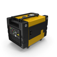 Portable Generator Yellow PNG & PSD Images