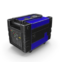 Portable Generator Blue Used PNG & PSD Images