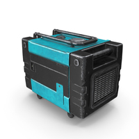 Portable Generator SkyBlue Used PNG & PSD Images