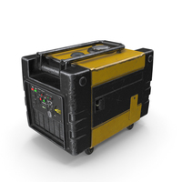 Portable Generator Yellow Used PNG & PSD Images