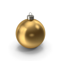 Christmas Ornament Gold PNG & PSD Images