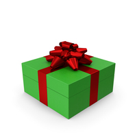 Gift Box Green Red PNG & PSD Images