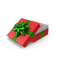 Gift Box Opened Red Green PNG & PSD Images