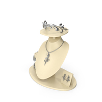 Necklace Set in Silver PNG & PSD Images