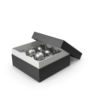Box With Christmas Ornaments PNG & PSD Images