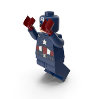 Lego Captain America Jumping PNG & PSD Images