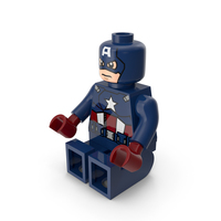 Lego Captain America Sitting PNG & PSD Images
