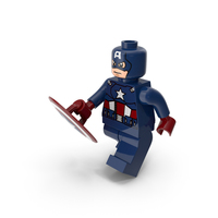 Lego Captain America Walk With Shield PNG & PSD Images