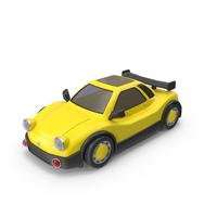 Cartoon Racing Car Yellow PNG & PSD Images