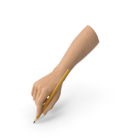 Hand Holding a Pencil PNG & PSD Images