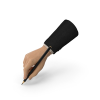 Suit Hand Holding a Black Pencil PNG & PSD Images