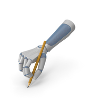 RoboHand Holding a Pencil PNG & PSD Images