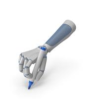 RoboHand Holding a Blue Marker Pen PNG & PSD Images
