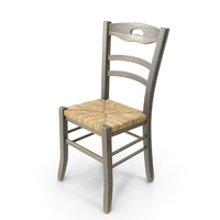 Rustic Straw Chair PNG & PSD Images