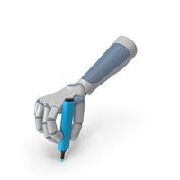RoboHand Holding a Blue Highlight Marker PNG & PSD Images