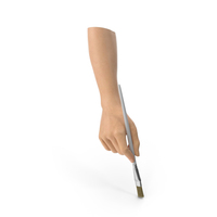 Hand Holding a Paint Brush PNG & PSD Images