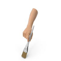 Hand Holding a Wide Paint Brush PNG & PSD Images