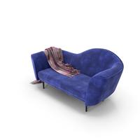 Blue Velvet Sofa PNG & PSD Images