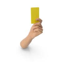 Hand Holding a Yellow Card PNG & PSD Images