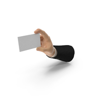Suit Hand Holding a Blank Card PNG & PSD Images