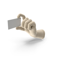Glove Holding a Blank Card PNG & PSD Images