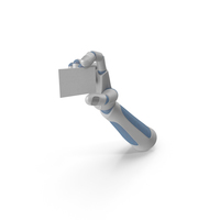 Robohand Holding a Blank Card PNG & PSD Images