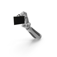 Robohand Holding a Fancy Business Card PNG & PSD Images