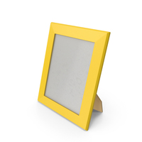 Photo Frame Yellow PNG & PSD Images