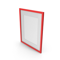 Wall Picture Frame Red PNG & PSD Images