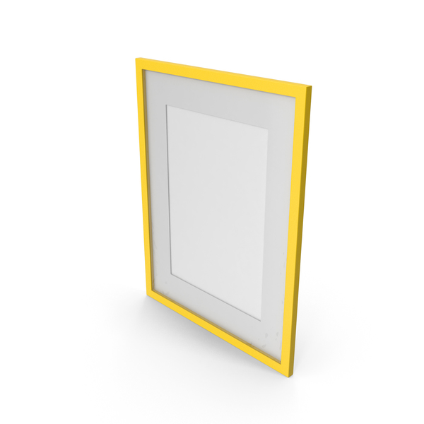 Wall Picture Frame Yellow PNG & PSD Images