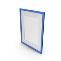 Wall Picture Frame Blue PNG & PSD Images