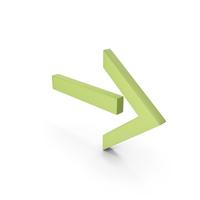 Arrow  Light Green PNG & PSD Images