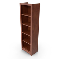 Individual Wooden Bookcase PNG & PSD Images
