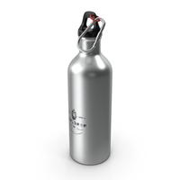 Aluminium Sports Bottle Silver PNG & PSD Images