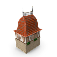 Stylized Old City House PNG & PSD Images