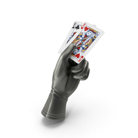 Glove Holding a Pair of Kings Playing Cards PNG & PSD Images