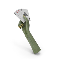 Creature hand holding Aces PNG & PSD Images
