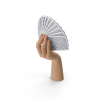 Hand Holding a Fan of Cards PNG & PSD Images