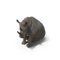 Sitting Rhino PNG & PSD Images