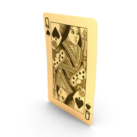 Golden Playing Cards Queen of Spades PNG & PSD Images