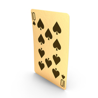 Golden Playing Cards 10 of Spades PNG & PSD Images