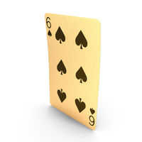 Golden Playing Cards 6 of Spades PNG & PSD Images