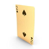 Golden Playing Cards 2 of Spades PNG & PSD Images