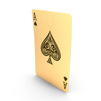 Golden Playing Cards Ace of Spades PNG & PSD Images