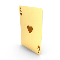 Golden Playing Cards Ace of Hearts PNG & PSD Images