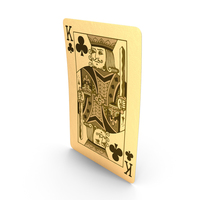 Golden Playing Cards King of Clubs PNG & PSD Images