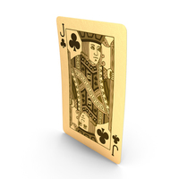 Golden playing Cards Jack of Clubs PNG & PSD Images