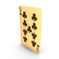 Golden Playing Cards 9 of Clubs PNG & PSD Images