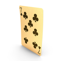 Golden Playing Cards 7 of Clubs PNG & PSD Images