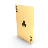 Golden Playing Cards Ace of Clubs PNG & PSD Images